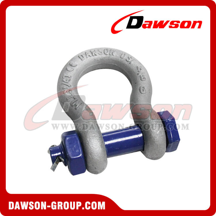 Drop Forged US Type Bow Shackle with Safety Pin - China Supplier