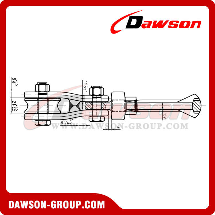 Drawing of DS930 G80 Swivel Connecor with Roller Sheave for Forestry Logging - China Supplier