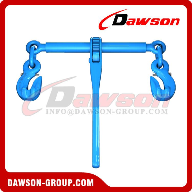 G100 Forged Ratchet Type Load Binder with Safety Hooks for Lashing - Dawson Group Ltd. - China Factory