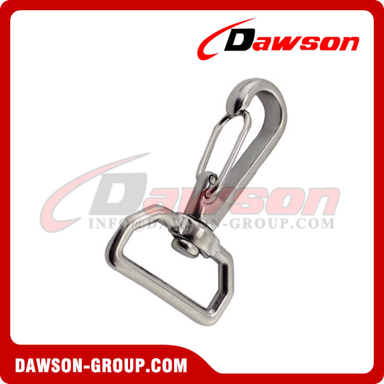 Stainless steel Square swivel spring hook