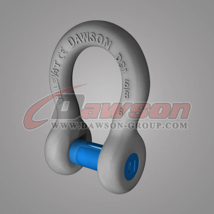 Forged Trawling Bow Shackle with Sunken Pin - China Exporter