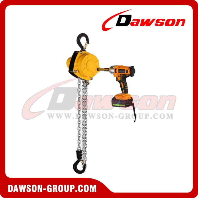 0.125T - 3T Portable Electric Hoist with Electric Wrench for Outdoor Use Without Power