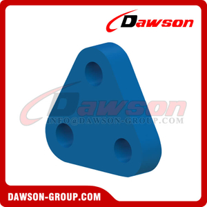 High Tensile Steel Three Hole Triangle Plate, Mooring Plate