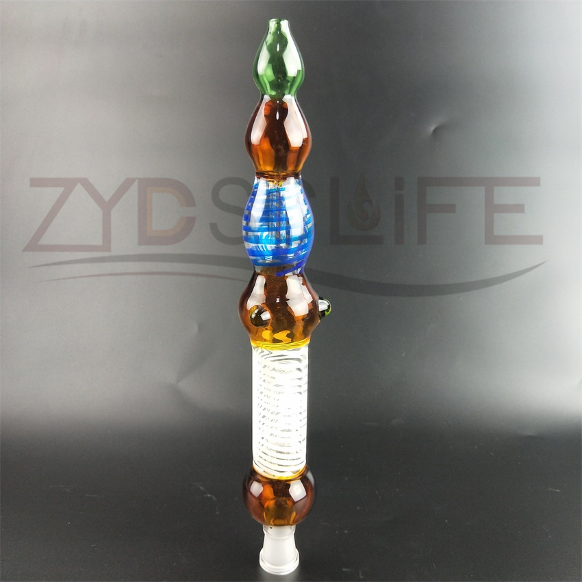 Colorful Glass Pipe with Bamboo Shape Glass Recycling Bong