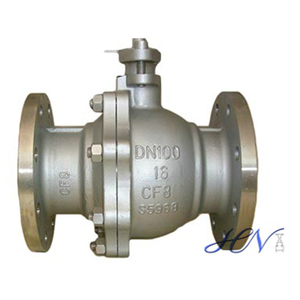 DIN Standard SS CF8 Flanged Floating Ball Valve