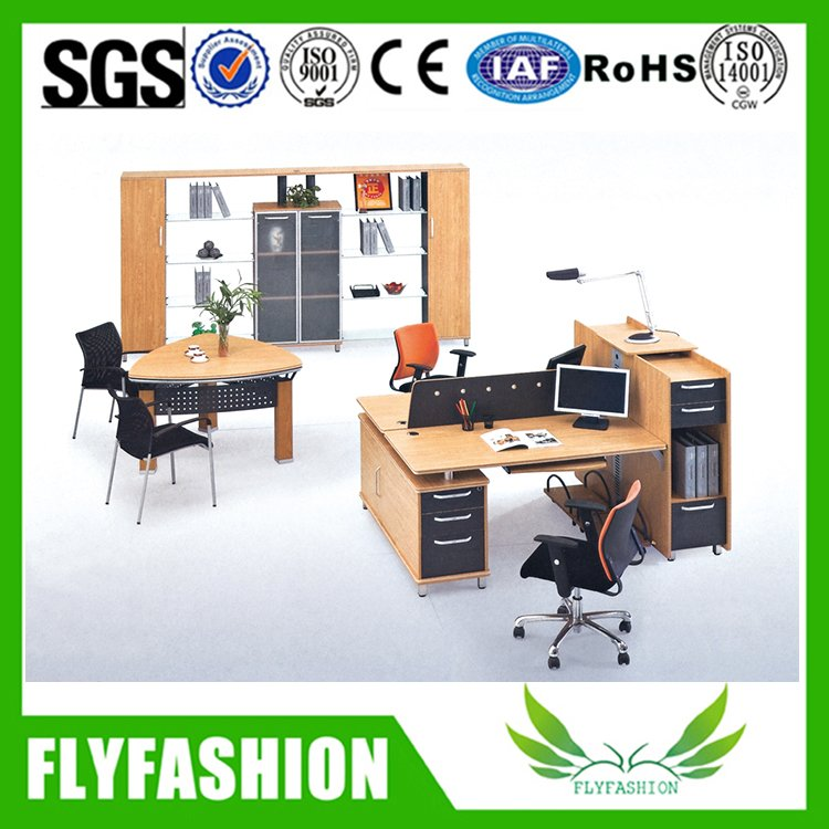 L-Shaped Office Table with mobile cabinet(PT-41)