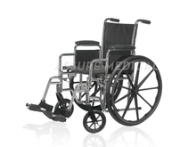 YJ-K2C01-2 Steel Manual Wheelchair, Chrome Finish