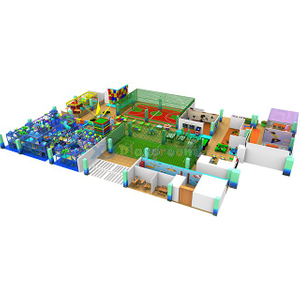 Ocean Theme Kids Indoor Soft Play Equipment with basketball and football field