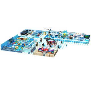 Ice & Snow Themed Kids Commercial Indoor Playground Equipment