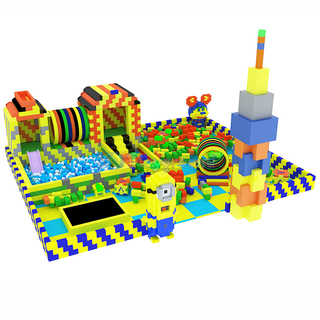 Colorful Soft Building Blocks Toddler Indoor Play Toys with Ball Pit
