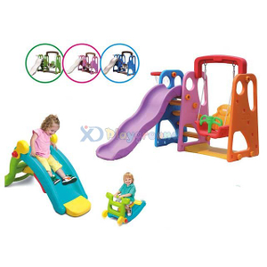 Amusement Plastic Baby Slide and Swing for Toddler Area