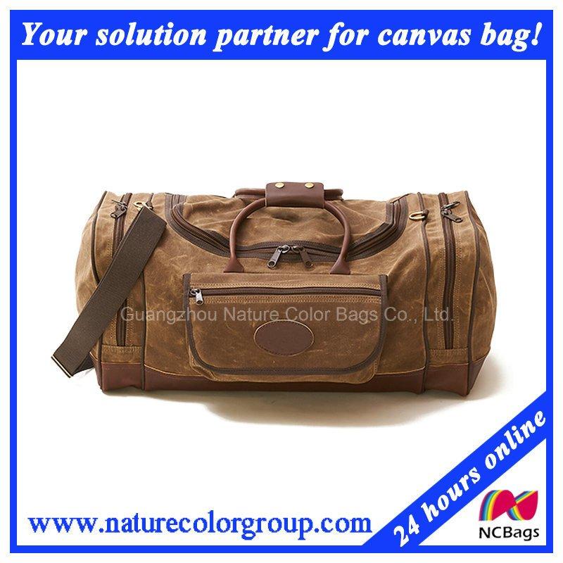 f1bc01f4b Mens Fashion Waxed Canvas Traveling Duffle Leisure Bag - Buy Duffle ...