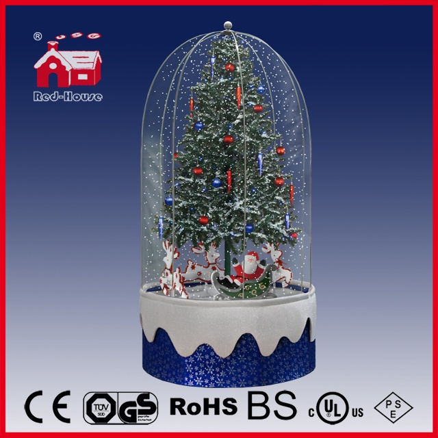 40110fd200d b1s snowing christmas decorations with revolving figures