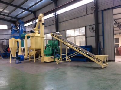 Simplified Biomass Fuel Pellet Making Line