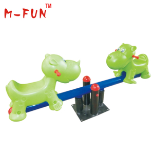 Kids seesaw with cartoon seats