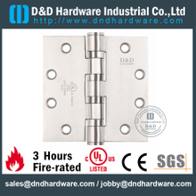 DDSS004-FR-4.5x4x3.4mm-SS Grade 304 Four Ball Bearing Hinge with UL Certificate for Metal Door