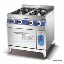HGR-94E 4-Burner Gas Range with Electric Oven
