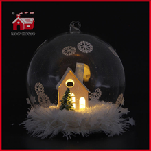 House Design LED Glass Balloon Decoration Christmas Glass Giftware Christmas Tree