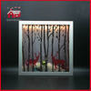 Square Glass Frame LED Decoration Wholesale Shadow Box Frames LED Glass Decoration