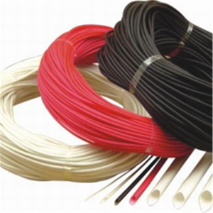 Silicone fiber glass braided tubes