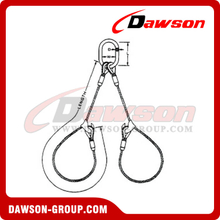 WS72-TTD Flemish Eye Splice Wire Rope Slings