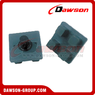 "B10092 4""×4"" Rubber Domino's Foot Pad Bolt On"