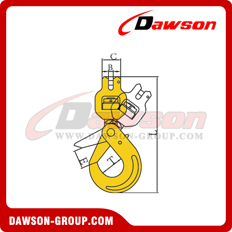 DS007 G80 CLEVIS SWIVEL SELFLOCK HOOK WITH BEARING - DAWSON-GROUP - CHINA FACTORY