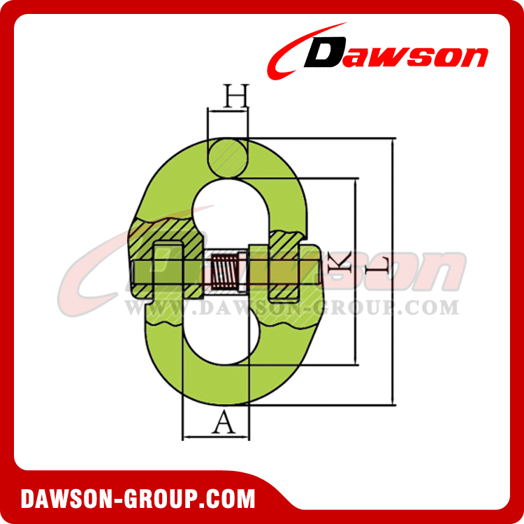G100 / Grade 100 Japanese Type Connecting Link for Lifting Chain Slings