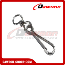 Simplex Hook with Swivel Nickel Plated