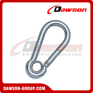 Stainless Steel Snap Hook with Eyelet DIN5299 Form A