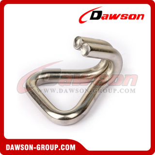 DSWH50501SS BS 3000KG / 6600LBS Stainless Steel Wire Hook, Double J Hook