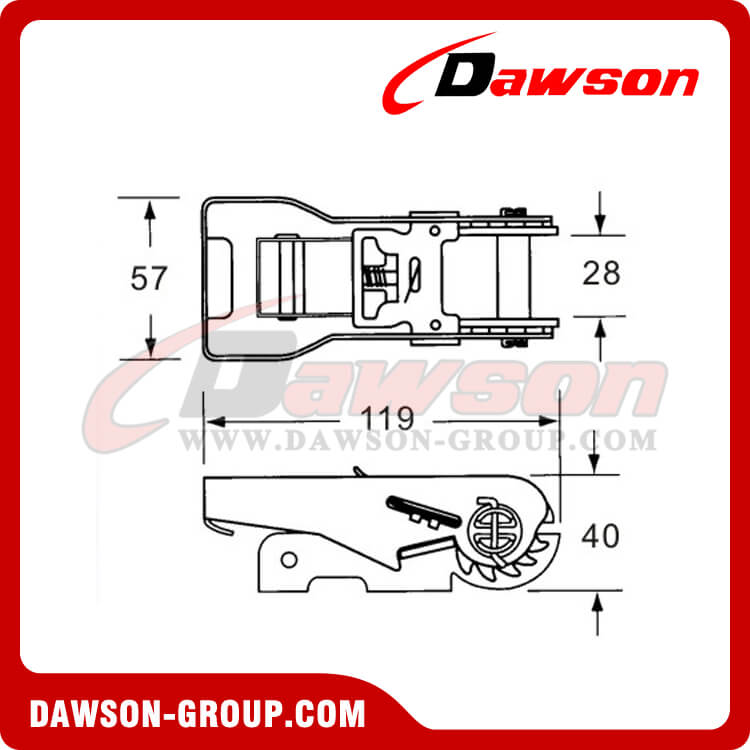 DSRB25152SS Stainless Steel Ratchet Buckle - China Manufacturer Supplier