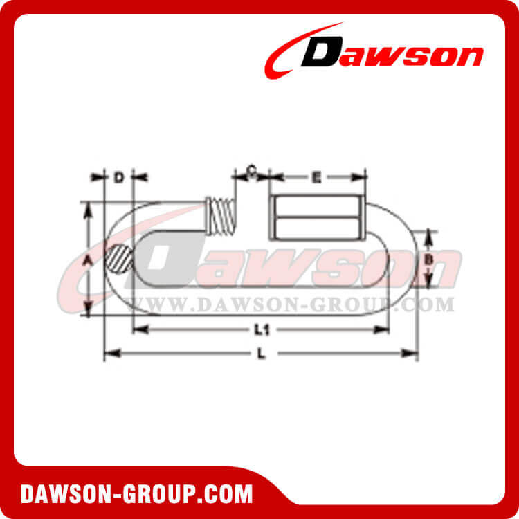 Stainless Steel Quick Links Large Opening - Dawson Group Ltd. - China Manufacturer, Supplier, Factory, Exporter