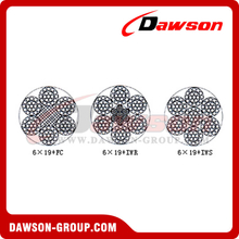 Steel Wire Rope Construction(6×19+FC)(6×19+IWR)(6×19+IWS)