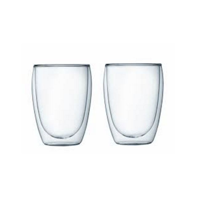 250ml Double Wall Glass Cup