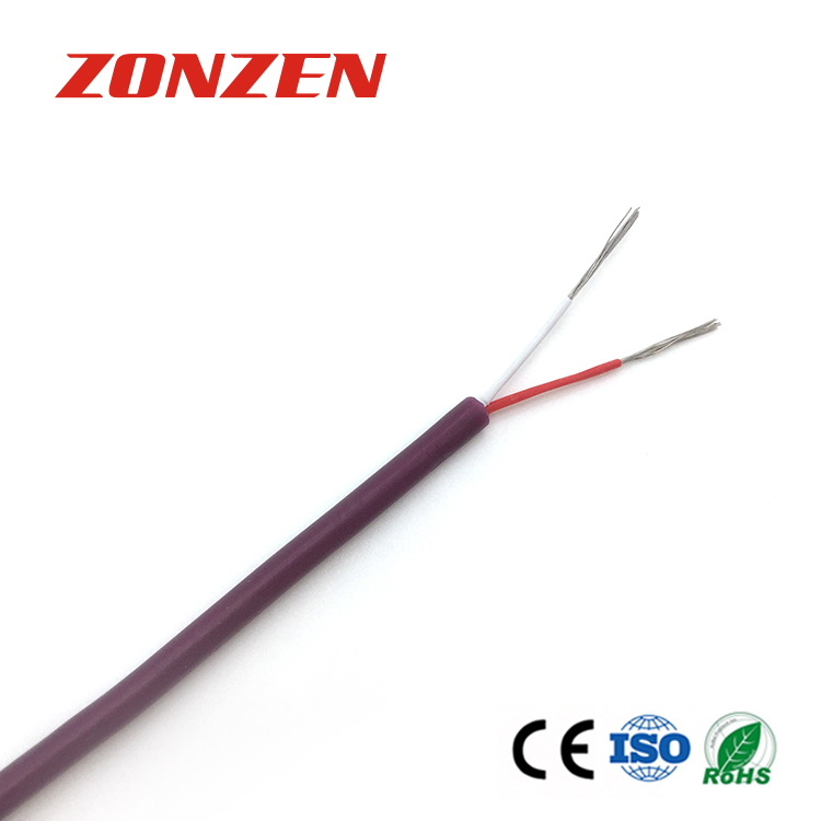 Silicone rubber insulated thermocouple extension wire--Single pair, round