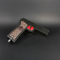 Wine Box Manufacturer PU leather luxury funny gun wine holder