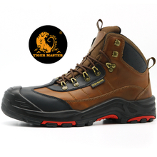 High Quality Oil Resistant Composite Toe Puncture Proof Leather Safety Boots