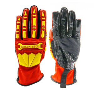 Anti Cut TPR Impact Resistant Oil Proof Mechanic Gloves Work