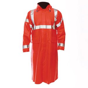 Anti Arc Flame High Visibility Reflective Waterproof PVC Coating Adult Men Raincoats