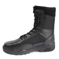 Rubber outsole Police Tactical Boots