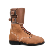 Milforce wholesale brown Germany military full leather boots 6290