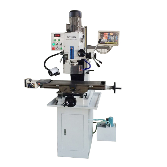 "ZAY7045V 31 1/2"" X 9 1/2"" Gear Drive Milling Machine W. X Axis Power Feeder & 3 Axis DRO"
