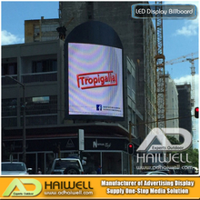 Roof Top Steel Structure Frame Curve Led Screen Hoarding Advertising Signs