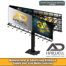 Double Sided V Type Outdoor Advertising Billboard Hoarding Display