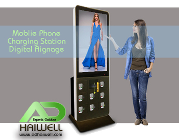 New Trend of Mobile Phone Charging Station Digital Signage