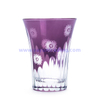 high quality unique design colorful glass drinking cup