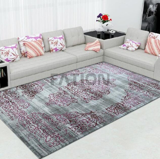 Modern Purple Machine Made Polypropylene Rug
