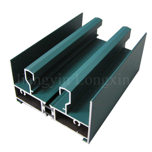Green Coated Aluminium Frame for Sliding Window