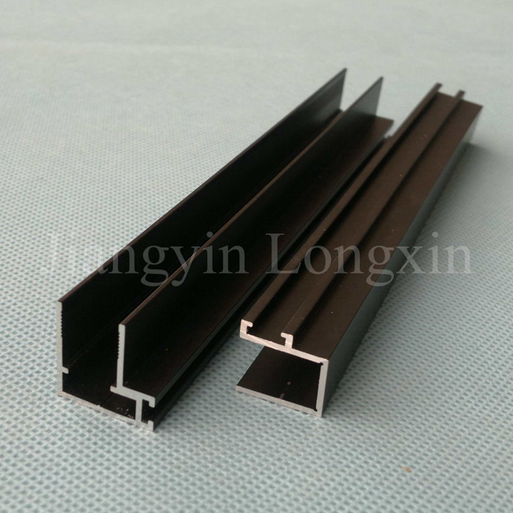 Matt Black Anodized Aluminium Profile for Windows